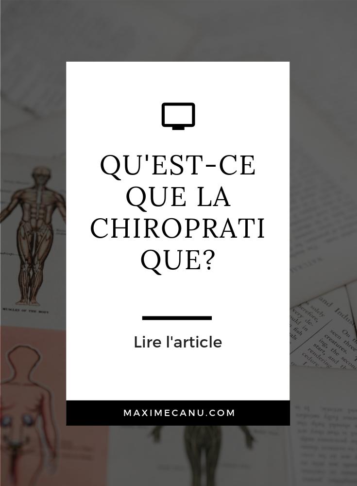 Qu'est ce que la chiropratique